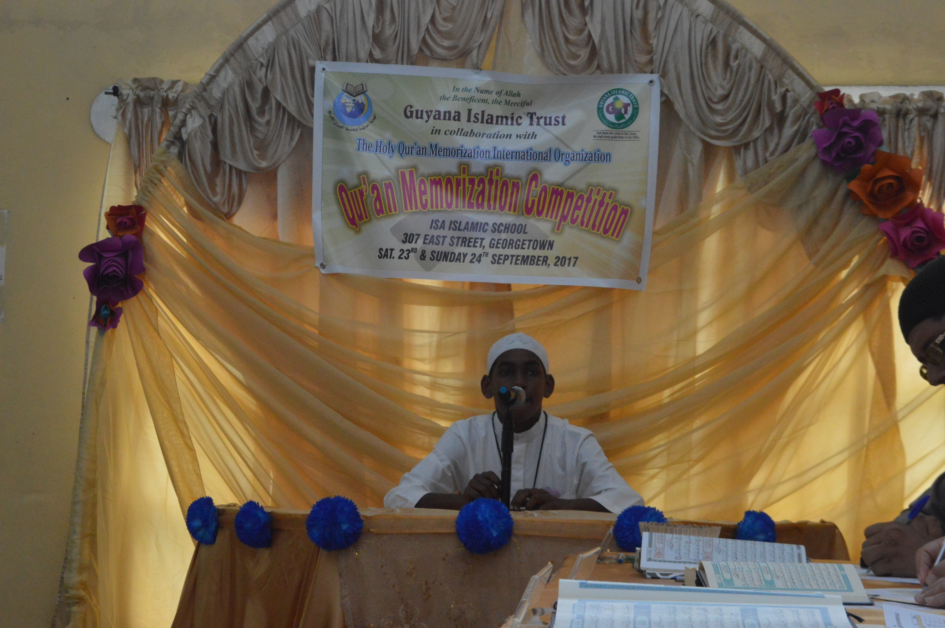 Participant at the Qur'an Memorization Competition