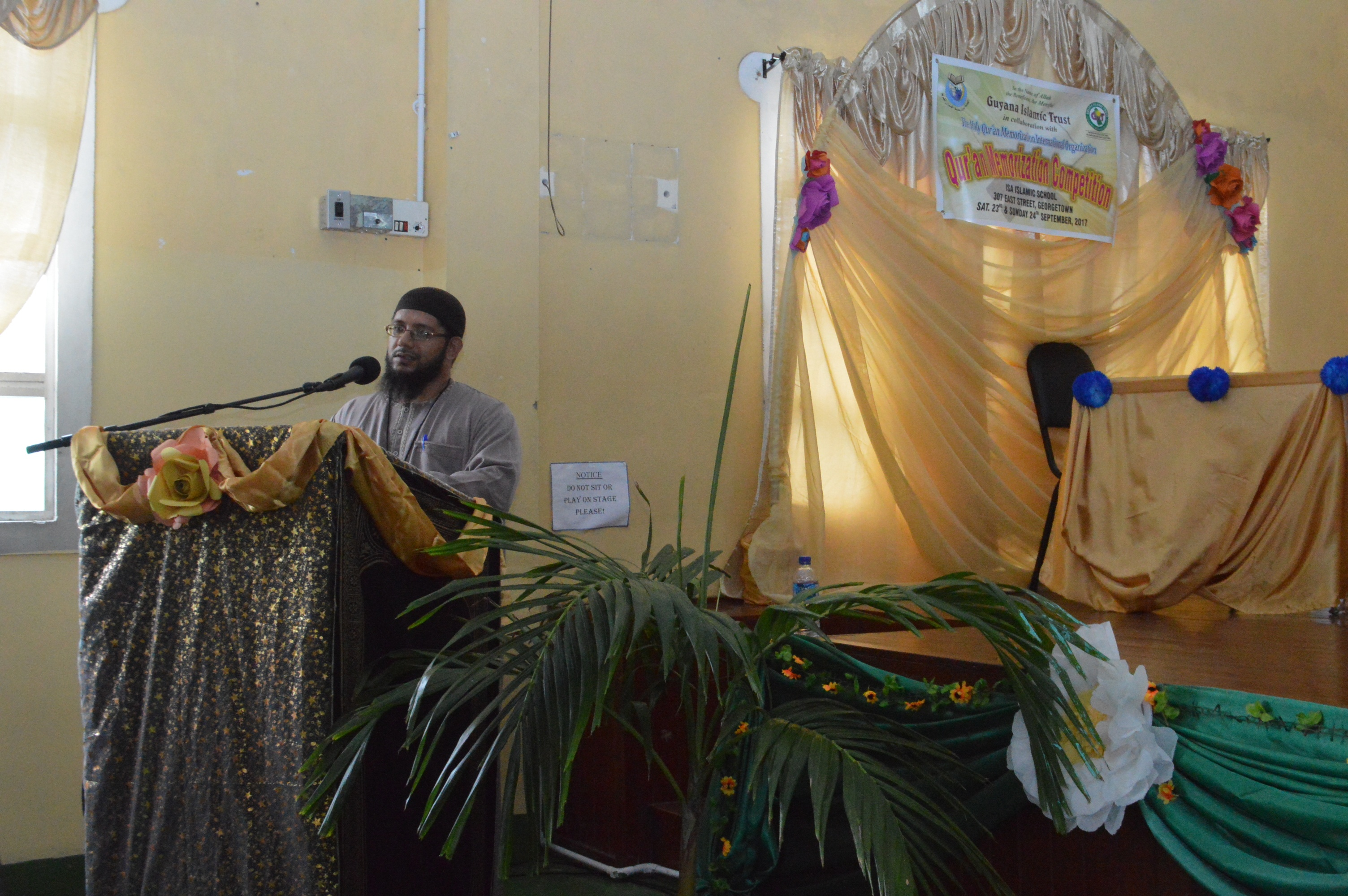 Sh. Abdool Aleem Rahim, President of the GIT gives Remarks
